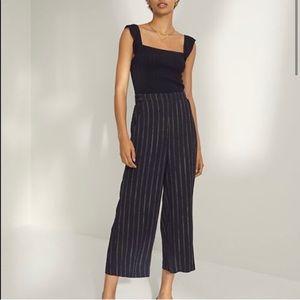 NWOT Aritzia Wilfred Faun Navy Striped Dress Pant